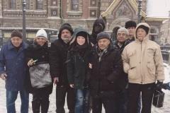 Con los ingenieros cubanos en San Petersburgo (después de visita de la ciudad, deciembre 2016)