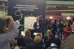 At the International Beauty Exhibition in Saint-Petersburg (Nevskie berega) as an Italian to Russian interpreter of Primia cosmetici company