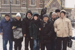 With Cuban engineers in Russian winter (December 2016)