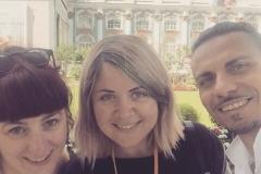 With Italian-speaking couple in suburbs of Saint-Petesburg