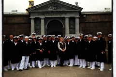 With Mexican military sailors in the Saint Peter and Paul Fortress