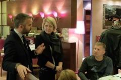 "At the restaurant ""Vino di vino"" (interpreter at a wine tasting event)"