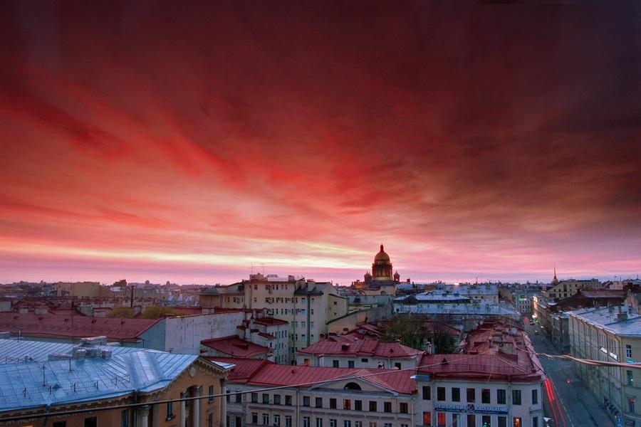 White nights in Saint Petersburg