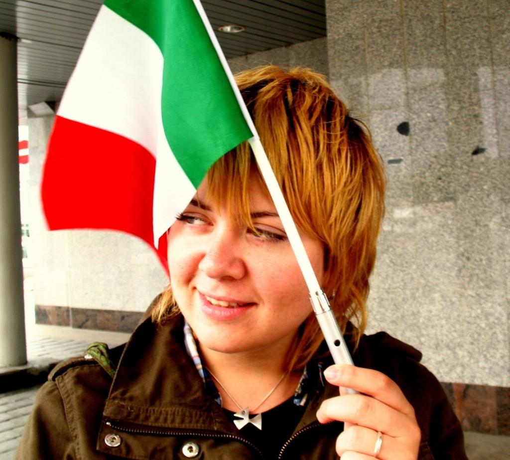 переводчик итальянского в России в Санкт-Петербурге итальянский флаг