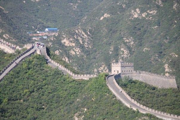 Китай. Пекин. Великая китайская стена. вид панорама сверху