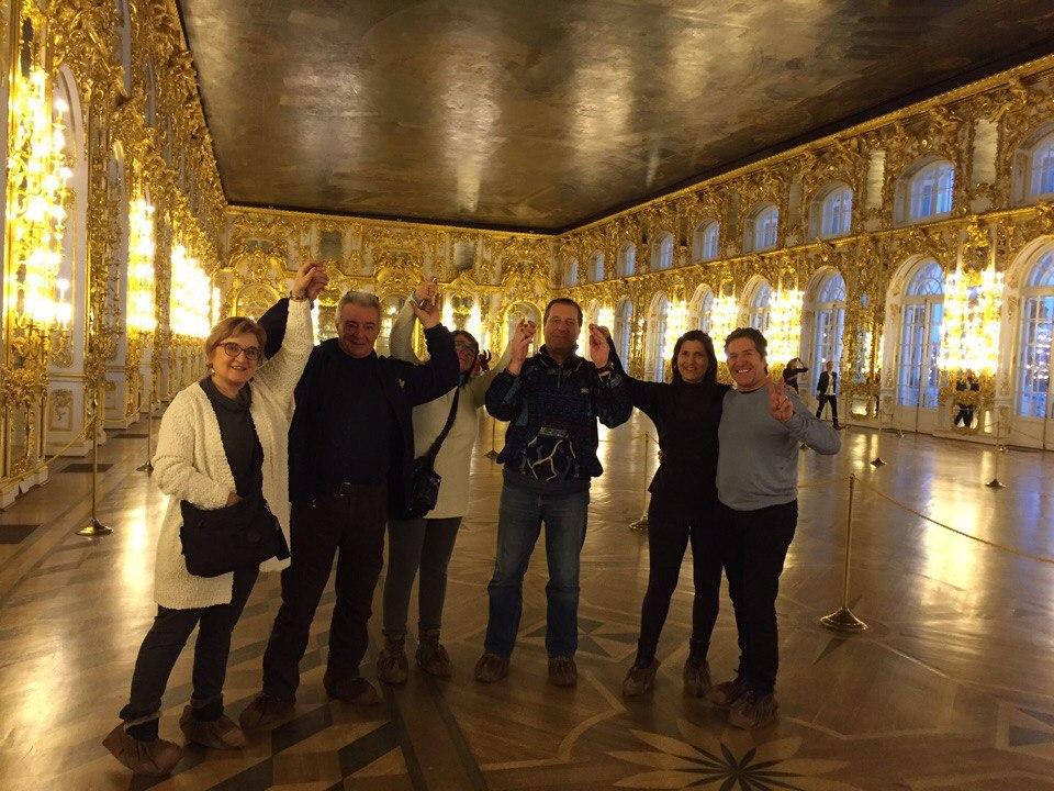 Екатерининский дворец, экскурсия на итальянском языке для гостей из Милана