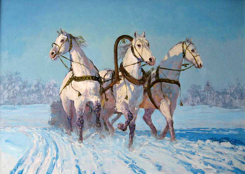 trojka tres caballos significado traducción