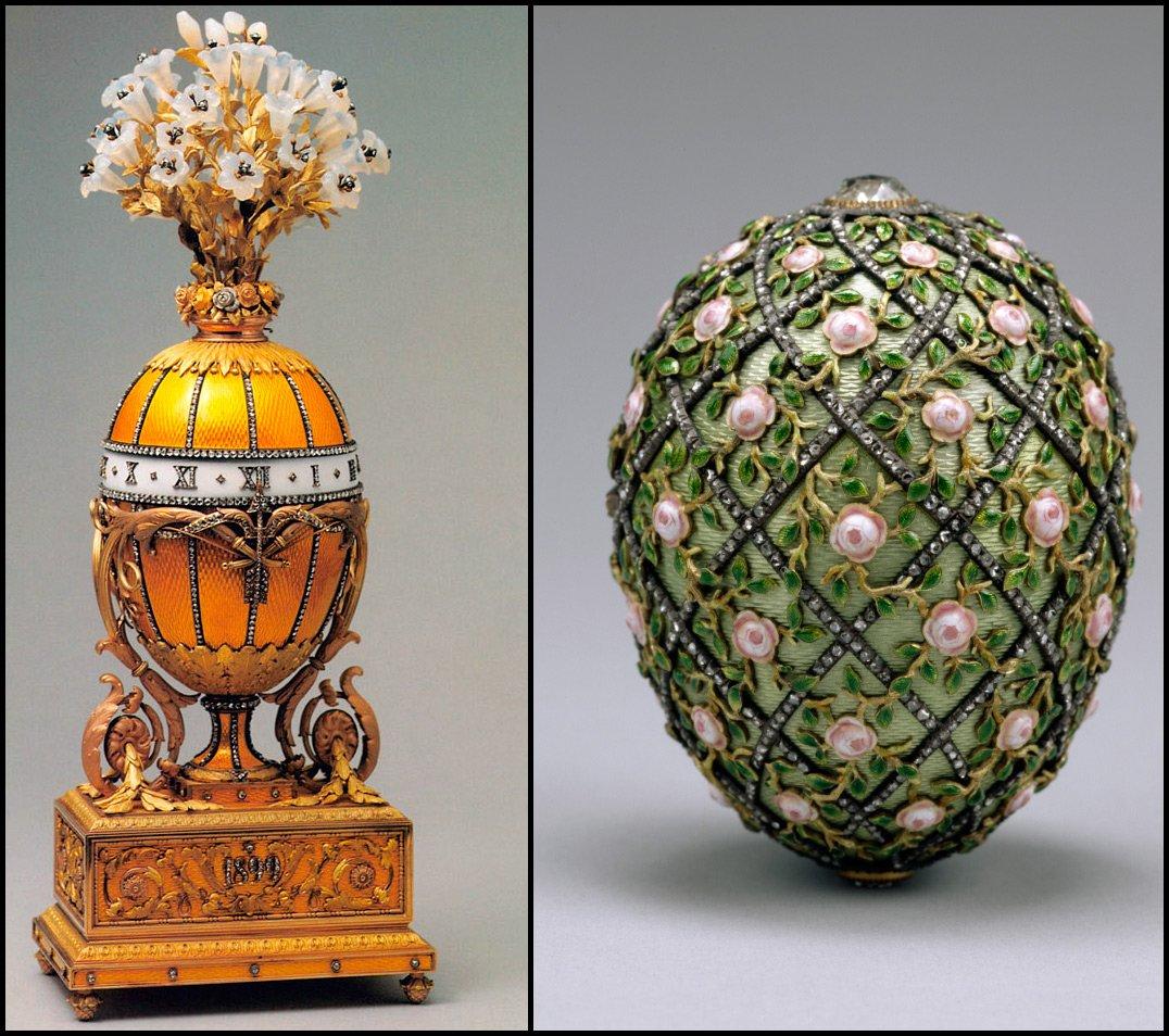 souvenir típico de huevo de faberge de San Petersburgo