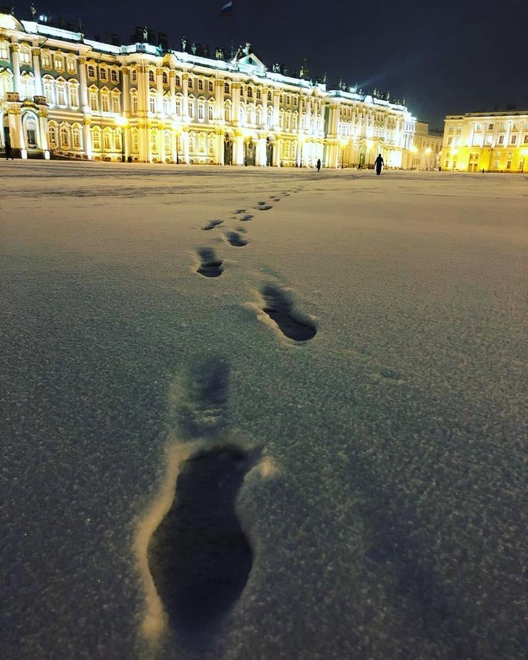 palacio de invierno en invierno San Petersburgo hielo navidad final de año