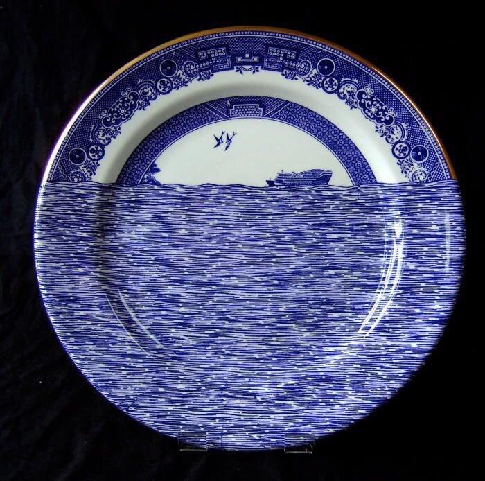 море синий корабль