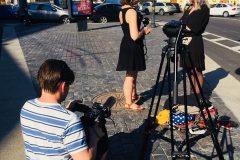 Интервью для бельгийского телеканала о работе гида переводчика