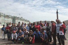 Испаноязычный гид с группой из Панамы Дворцовая площадь