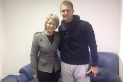 Con Domenico Criscito (el Mimmo) en entrevista para el canal televisivo ruso