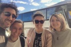 """Con los turistas de """"Costa crociere"""""""