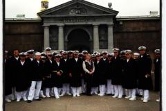 Con los marineros mexicanos del Buque Cuauhtémoc en Fortaleza de San Pedro y San Pablo