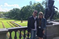 La visita del parco di Caterina (la reggia degli zar presso San Pietroburgo)