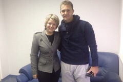 Con Domenico Criscito (il Mimmo) all'intervista per il canale televisivo russo