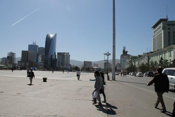 главная площадь Улан-Батора вид панорама