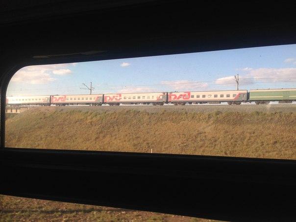 новосибирск поезд ржд транссиб вид из окна поезда