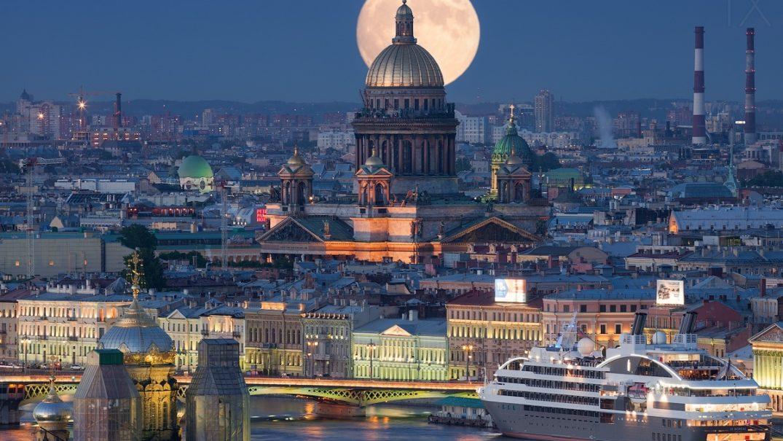 Panorama di San Pietroburgo Cattedrale di Sant'Isacco dall'alto