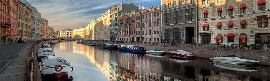 ríos y canales de San Petersburgo Rusia