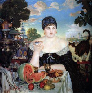 Kustodiev pittura russa