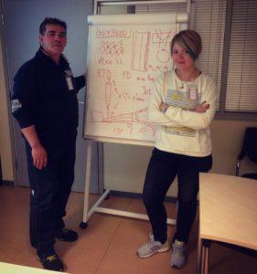 """Interprete tecnico al corso di perfezionamento per gli operatori (Fabbrica """"Filip Morris"""", maggio 2016)"""