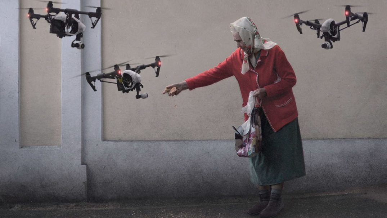 бабушка и дроны мем