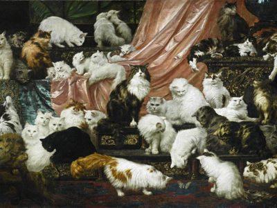 картина любовники моей жены коты