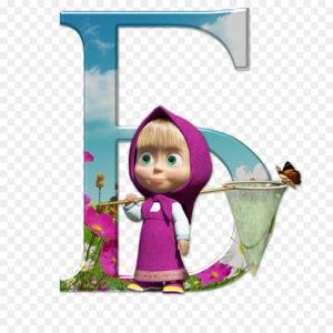 alfabeto ruso cirílico Masha y oso